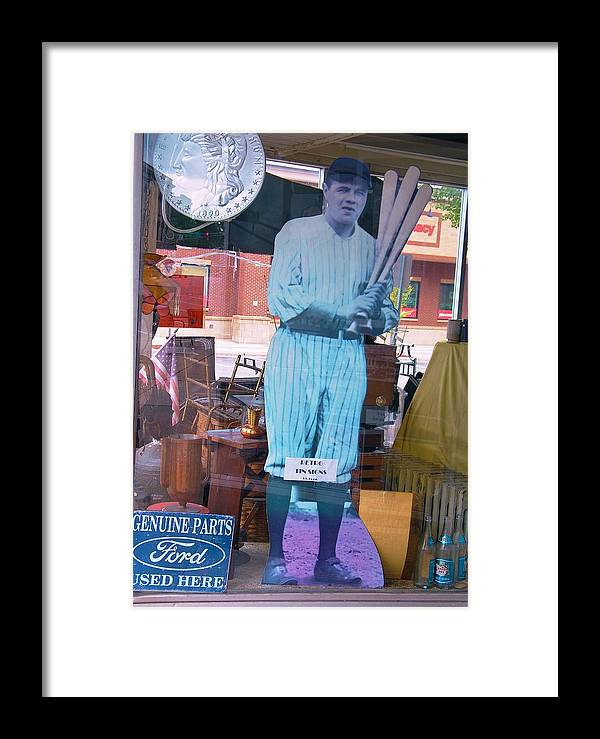 Babe Ruth Framed Print featuring the photograph The Babe In The Window by Rory Cubel