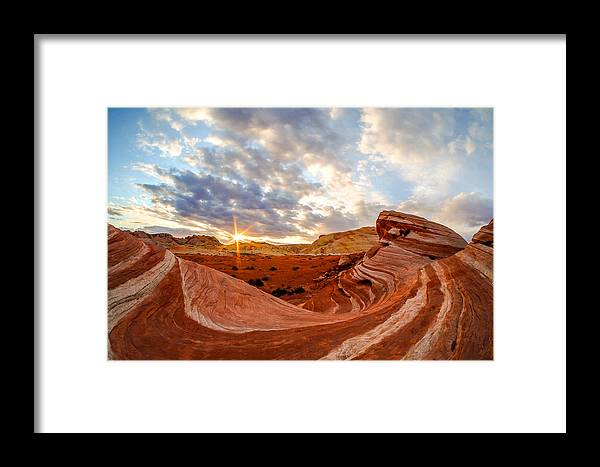 Fire Wave Framed Print featuring the photograph The Bacon Wave by Emily Dickey