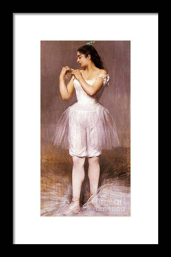 Pd Framed Print featuring the painting The Ballerina by Pg Reproductions