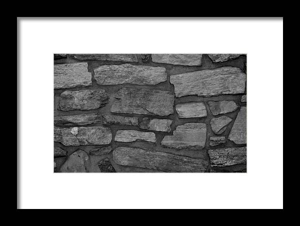 Scenic Framed Print featuring the photograph The Battery Wall In Black And White by Rob Hans