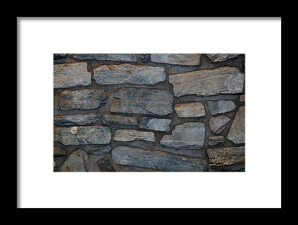 Scenic Framed Print featuring the photograph The Battery Wall by Rob Hans