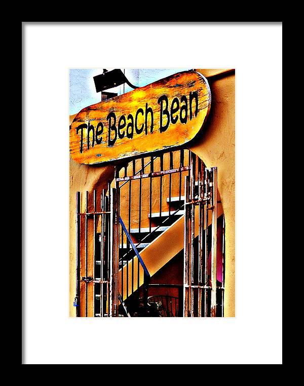 Rio Del Mar Framed Print featuring the photograph The Beach Bean by Antonia Citrino