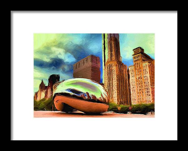 Cloudgate Framed Print featuring the painting The Bean - 20 by Ely Arsha