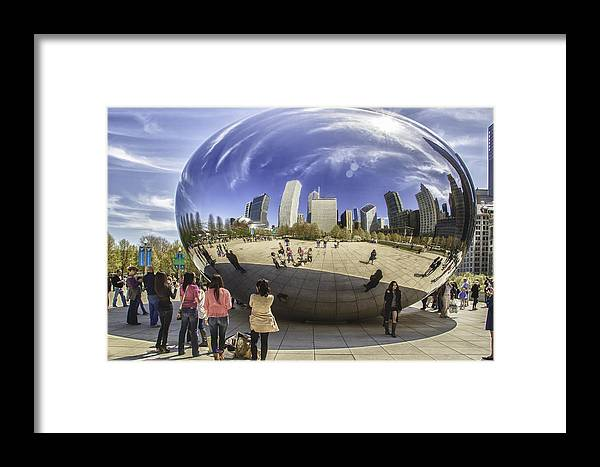 Chicago Photographs Framed Print featuring the photograph The Bean In Chicago-001 by David Allen Pierson