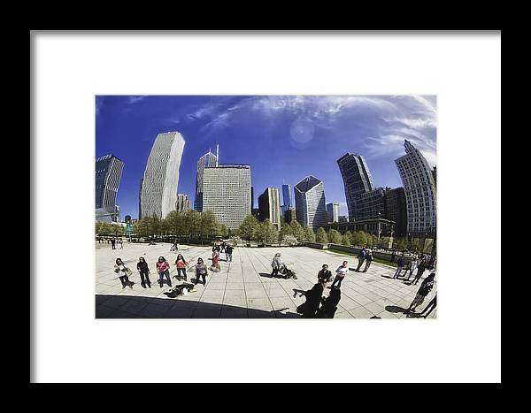 Chicago Photographs Framed Print featuring the photograph The Bean In Chicago-002 by David Allen Pierson