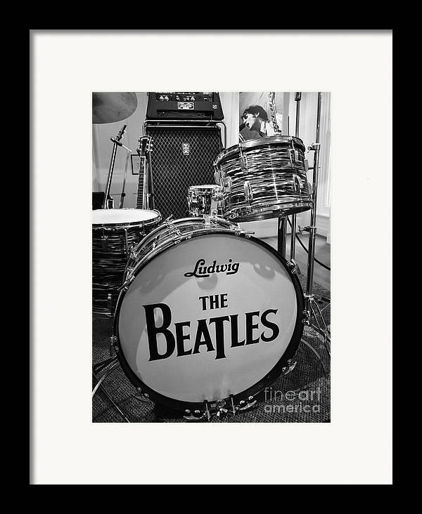 The Beatles Framed Print featuring the photograph The Beat Goes On by Mel Steinhauer