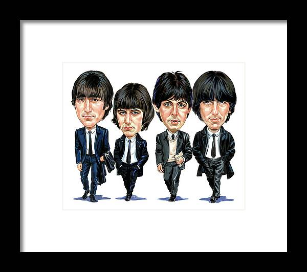 The Beatles Framed Print featuring the painting The Beatles by Art