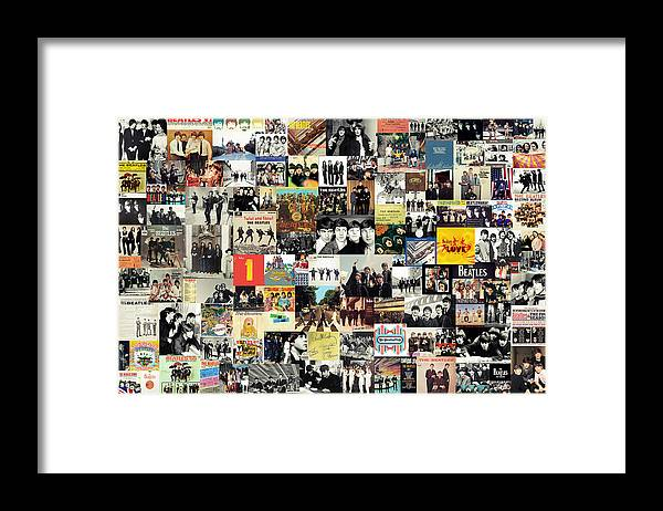 The Beatles Framed Print featuring the digital art The Beatles Collage by Zapista OU