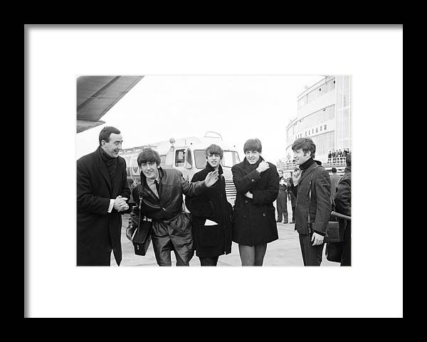 The Beatles Framed Print featuring the photograph The Beatles in Dublin by Irish Photo Archive
