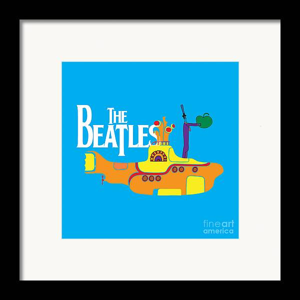 Artwork Framed Print featuring the digital art The Beatles No.11 by Caio Caldas