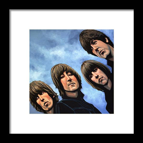 The Beatles Framed Print featuring the painting The Beatles Rubber Soul by Paul Meijering