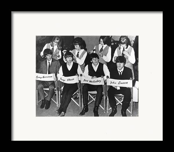 1960's Framed Print featuring the photograph The Beatles by Underwood Archives