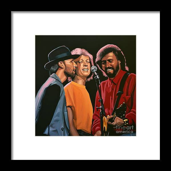 The Bee Gees Framed Print featuring the painting The Bee Gees by Paul Meijering