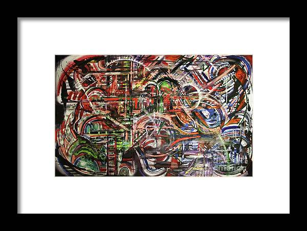 Michael Kulick Framed Print featuring the painting The Beheading Of Creative Impulse Part 2 by Michael Kulick