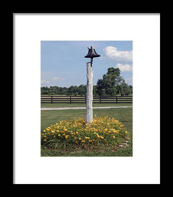 Flowers Framed Print featuring the photograph The Bell by Roger Potts