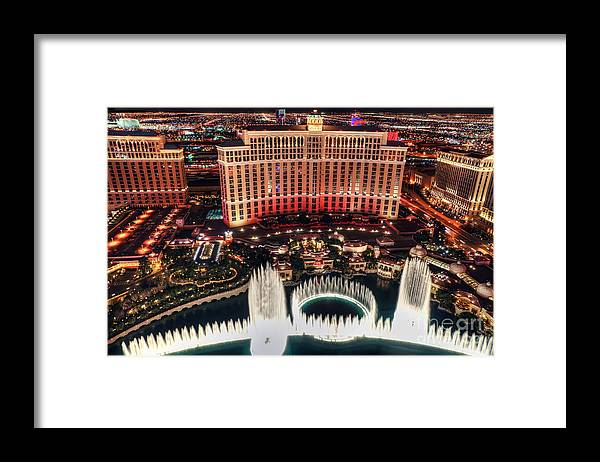Bellagio Framed Print featuring the photograph The Bellagio Fountains by Eddie Yerkish