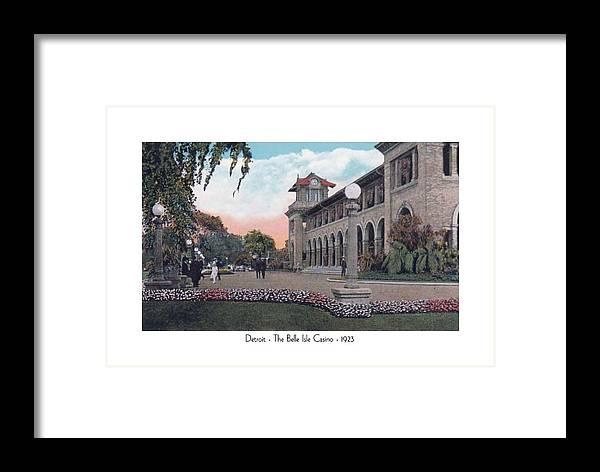 Detroit Framed Print featuring the digital art The Belle Isle Casino - Detroit - 1923 by John Madison