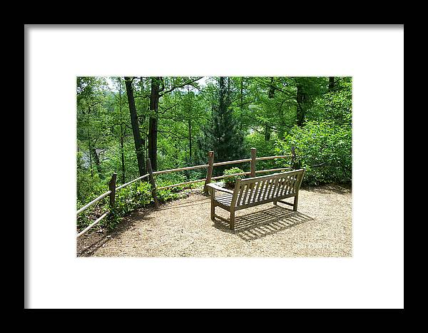Benches Framed Print featuring the photograph Asian Paths No. 10 by Walter Oliver Neal