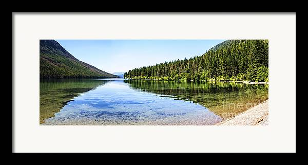 Kintla Lake Framed Print featuring the photograph The Best Beach In Glacier National Park Panorama by Scotts Scapes