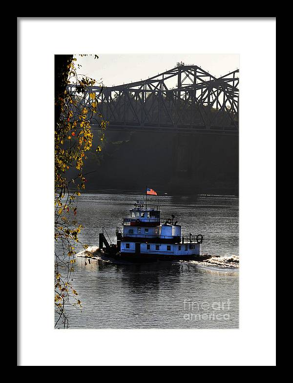 Tugboat Framed Print featuring the photograph the BettyeJenkins by Leon Hollins III