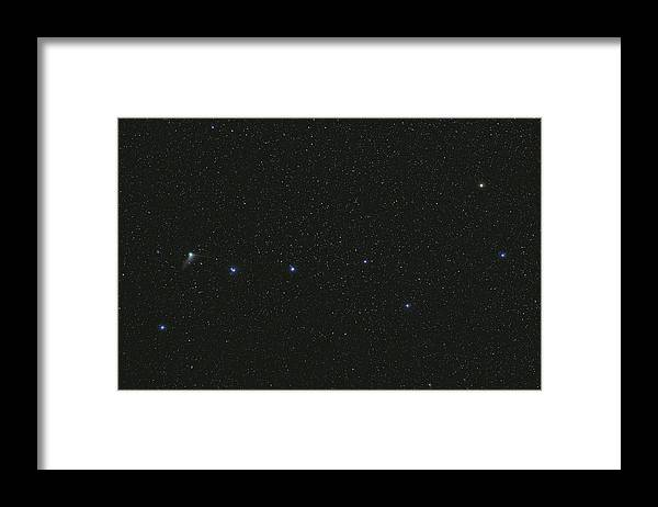 Horizontal Framed Print featuring the photograph The Big Dipper And Comet Catalina by Lorand Fenyes