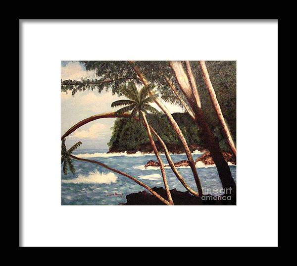 Hawaii Framed Print featuring the painting The Big Island by Laurie Morgan
