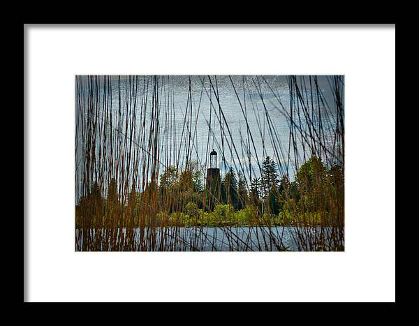 The Birdcage Framed Print featuring the photograph The Birdcage Lighthouse Of Baileys Harbor Paint by Carol Toepke