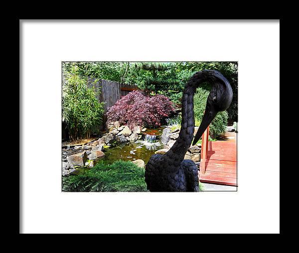 Crane Framed Print featuring the photograph The Black Crane by Artzmakerz