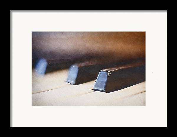 Piano Framed Print featuring the photograph The Black Keys by Scott Norris