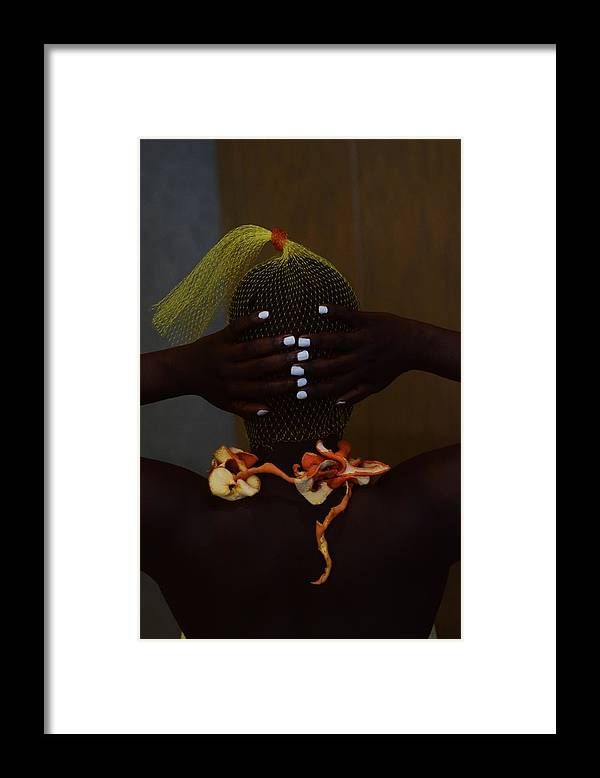 Orange Color Framed Print featuring the photograph The Black Victorian by Stephanie Nnamani