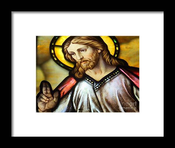 Jesus Framed Print featuring the photograph The Blessing by Ed Weidman