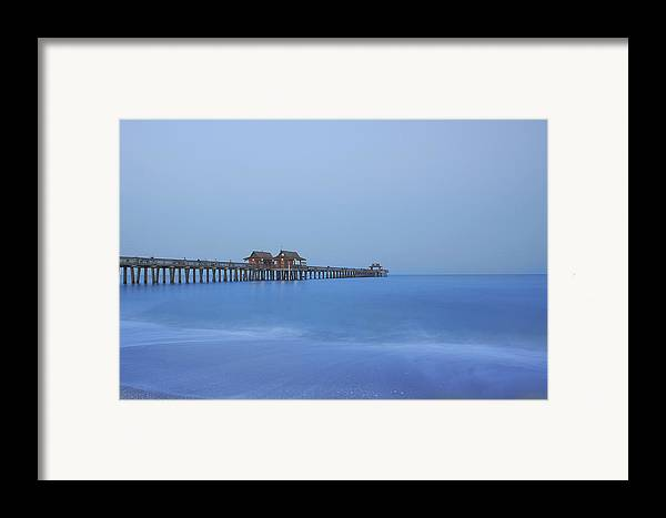 Pier Framed Print featuring the photograph The Blue Hour by Kim Hojnacki