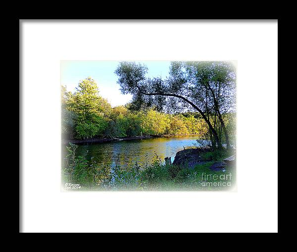Water Framed Print featuring the photograph The Boat Dock by Rennae Christman
