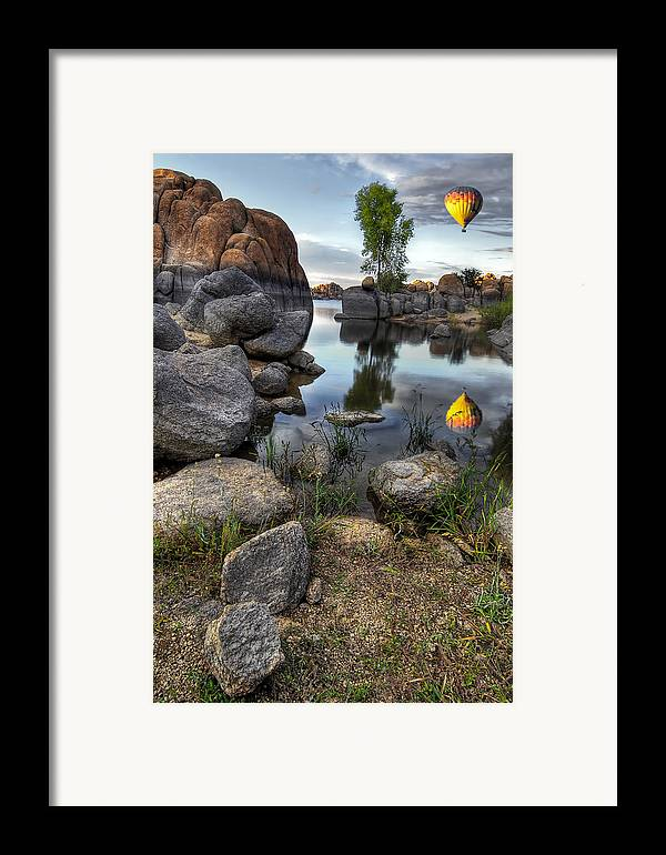 Landscape Framed Print featuring the photograph The Bobber by Sean Foster