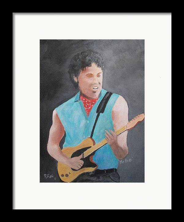 Springsteen Framed Print featuring the painting The Boss by Rich Fotia