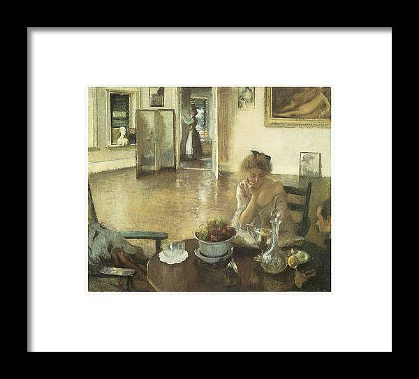 Edmund Charles Tarbell Framed Print featuring the painting The Breakfast Room by Edmund Charles Tarbell