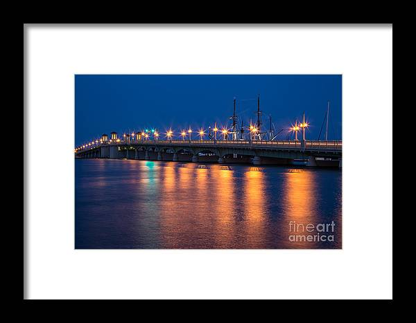 St. Augustine Framed Print featuring the photograph The Bridge Of Lions St. Augustine Florida by Dawna Moore Photography