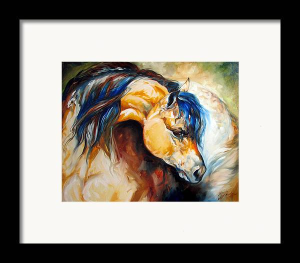 Horse Framed Print featuring the painting The Buckskin by Marcia Baldwin