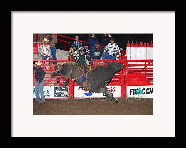 Rodeo Framed Print featuring the photograph The Bull Rider by Larry Van Valkenburgh
