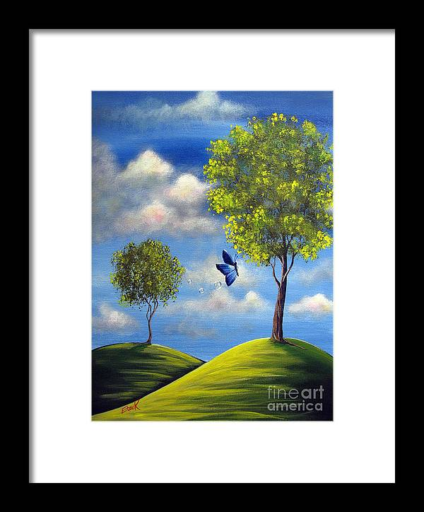 Butterfly Framed Print featuring the painting The Call Of Spring By Shawna Erback by Artisan Parlour