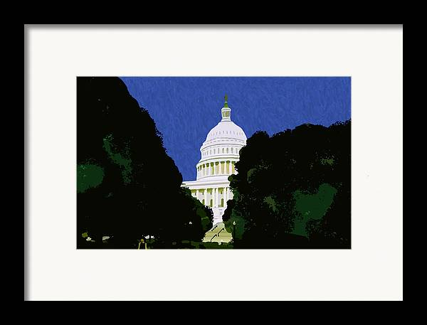 Capitol Framed Print featuring the painting The Capitol by Pharris Art