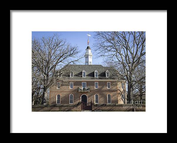 Colonial Framed Print featuring the photograph The Capitol by Teresa Mucha