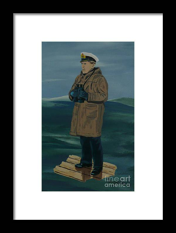 Captain Framed Print featuring the painting The Captain by Anthony Dunphy