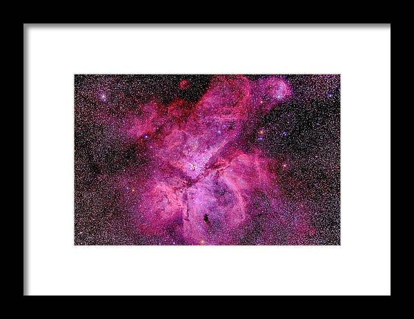 Southern Hemisphere Framed Print featuring the photograph The Carina Nebula In The Southern Sky by Alan Dyer/stocktrek Images