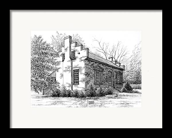 Carter House Framed Print featuring the drawing The Carter House In Franklin Tennessee by Janet King