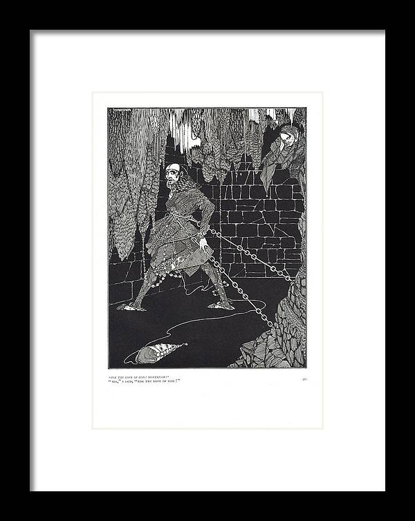 Harry Framed Print featuring the drawing The Cask Of Amontillado by Harry Clarke