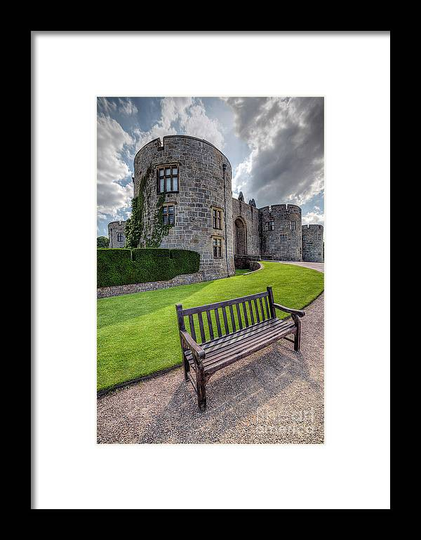 Hdr Framed Print featuring the photograph The Castle Bench by Adrian Evans