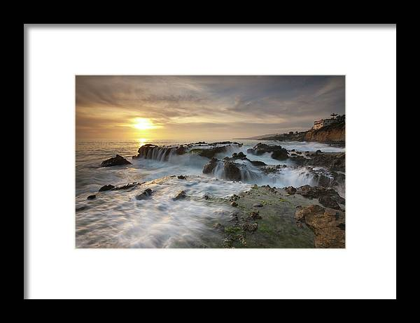 Scenics Framed Print featuring the photograph The Cauldron - Victoria Beach by Images By Steve Skinner Photography