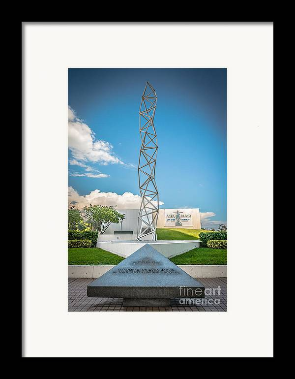 America Framed Print featuring the photograph The Challenger Memorial 2 - Bayfront Park - Miami by Ian Monk