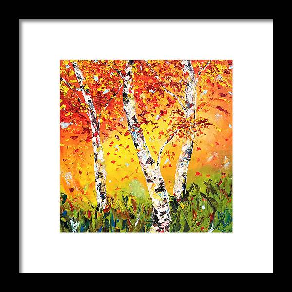 Autumn Framed Print featuring the painting The Change by Meaghan Troup